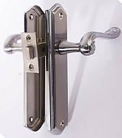 Комплект для межкомнатной двери RDA Monza (ручка на планке, защелка 256) хром/матовый хром