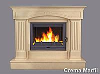 Портал для камина (облицовка) Версаль из натурального мрамора Crema Marfil