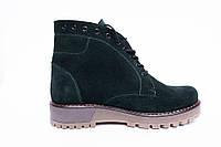 Ботинки из натурального зеленого замша №402-4 , фото 1