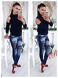 Женский трендовый вязаный свитер с открытыми плечиками (5 цветов), фото 5