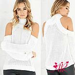 Женский трендовый вязаный свитер с открытыми плечиками (5 цветов), фото 9