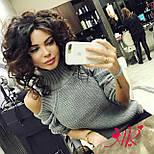 Женский трендовый вязаный свитер с открытыми плечиками (5 цветов), фото 10