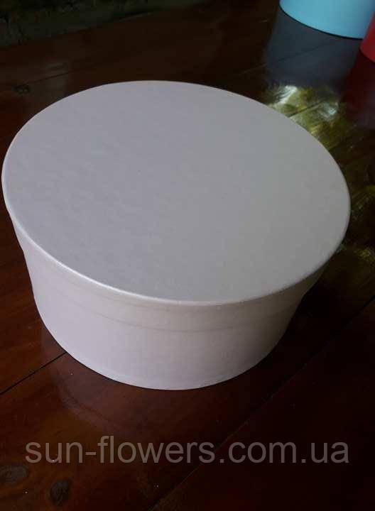 Коробка шляпная однотонная(22 диаметр)