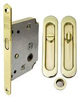 Комплект для раздвижных дверей RDA (ручка SL-155 + замок RDA с отв планкой 4120) полированная латунь