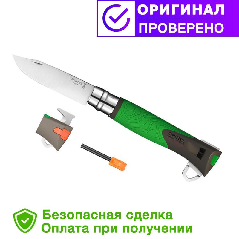 Складной нож Opinel (опинель) №12 Inox Explore Green (001899/232-1014_green)