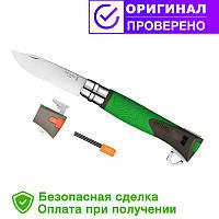 Складной нож Opinel (опинель) №12 Inox Explore Green (001899)