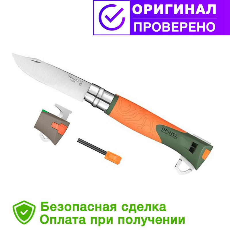 Складной нож Opinel (опинель) №12 Inox Explore Khaki/Orange (001974)
