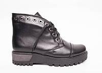 Ботинки из натурального черной кожи №403-1, фото 1