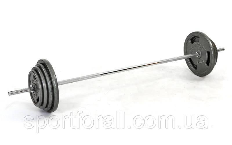 Штанга (стальные блины) 57кг TA-2431-57