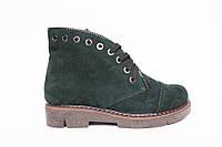 Ботинки из натуральной зеленой замши №403-4, фото 1