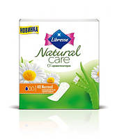 Ежедневные гигиенические прокладки Libresse Natural Care Pantyliners Normal 40