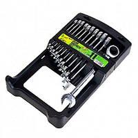 Набор ключей комбинированных трещоточных Alloid НК-2081-11 (8-19 мм, 11 предметов)