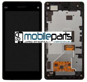 Оригинальный Дисплей (Модуль)+Сенсор (Тачскрин) для Sony D5503 Xperia Z1 Compact Mini (С рамкой) (Черный)