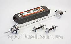 Набор гантели + штанга разборные хром. 50 кг ТА-1437-50