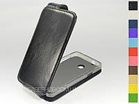 Откидной чехол из натуральной кожи для Huawei Ascend Y330