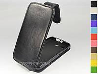 Откидной чехол из натуральной кожи для Huawei Ascend Y511