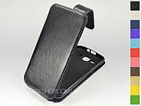 Откидной чехол из натуральной кожи для Huawei Ascend Y520