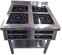 Плита индукционная 4 конфорочная 2,2кВт ( 800х800х850 ), фото 1