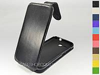 Откидной чехол из натуральной кожи для Huawei Ascend Y600