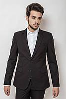 Пиджак мужской классический на двух пуговицах AG-0000160 Черный