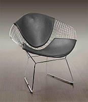 Стул Bertoia Diamondчерный металл, черное сиденье, стиль модерн, дизайнHarry Bertoia