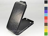 Откидной чехол из натуральной кожи для Huawei Ascend G630