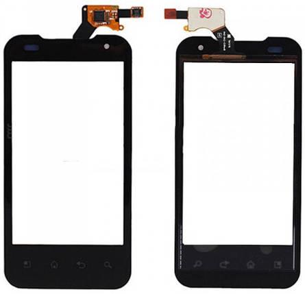 Сенсор LG Optimus 2X P990 black (оригинал), тач скрин для телефона смартфона, фото 2