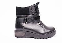 Ботинки из натуральной черной кожи №405-1 + УШКИ, фото 1