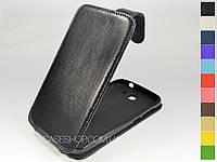 Откидной чехол из натуральной кожи для Huawei Ascend G730