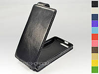 Откидной чехол из натуральной кожи для Huawei Ascend G6-U10