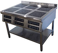 Плита индукционная 6 конфорочная 3,5кВт (1177х800х850 )