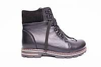Ботинки из натуральной черной кожи №405-3, фото 1