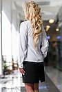 Белая блуза с вышивкой с длинным рукавом софт, фото 4