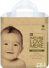 Подгузники-трусики NatureLoveMere, Eco, размер L (8-12кг), 22шт