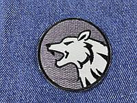 Нашивка волк 60 мм