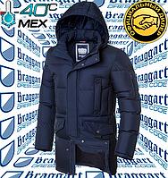 Мужская удлиненная куртка Braggart - 3205#3206 синий