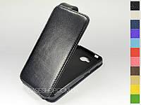 Откидной чехол из натуральной кожи для Huawei Y3 II