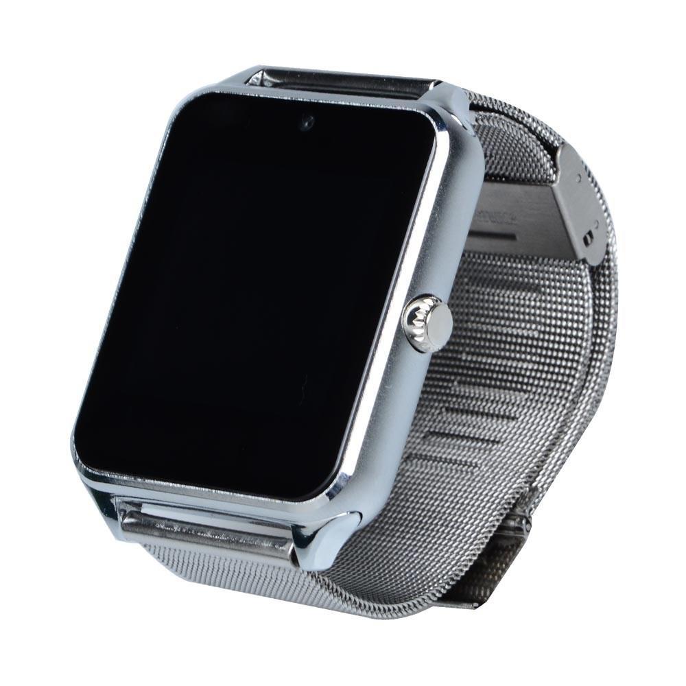 Умные часы телефон Smart Watch Z60 серебряный c SIM картой