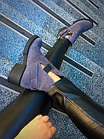 Демисезонные замшевые ботиночки(серый)