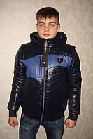 """Куртка демисезонная трансформер Lutter """"Улумбек"""" чёрный/синий"""