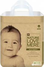 Підгузки-трусики NatureLoveMere, Eco, розмір XL (11-14кг), 20шт