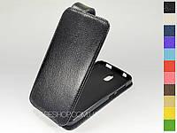 Откидной чехол из натуральной кожи для Huawei Y625