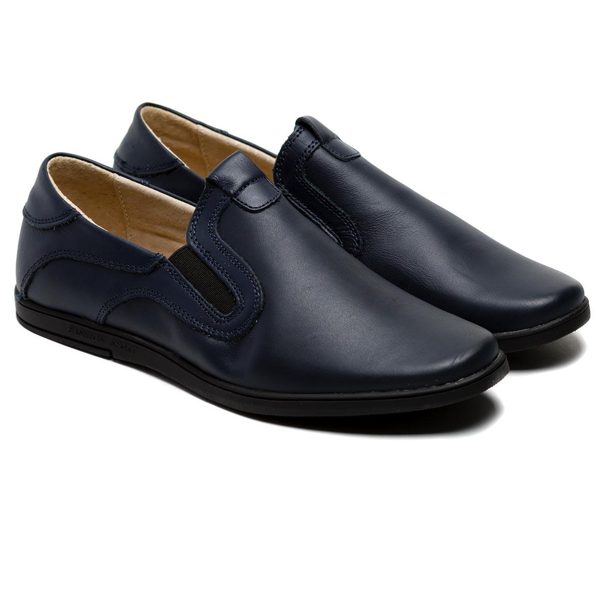 Кожаные туфли для школы Olipas