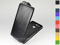 Откидной чехол из натуральной кожи для Huawei P9 Dual Sim