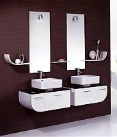 Комплект мебели для ванной комнаты двойной Logol (sale)