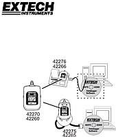 Extech SW276 Программное обеспечение и соединительный кабель