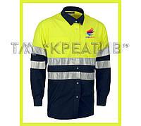 Рабочая рубашка со светоотражающими полосами (от 50 шт.)