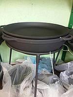Казан чугунный походно туристический с крышкой-сковородкой 17л