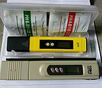 Прибор для определения чистоты ТДС метр (солемер)+PH метр (измеритель кислотности щелочности воды)