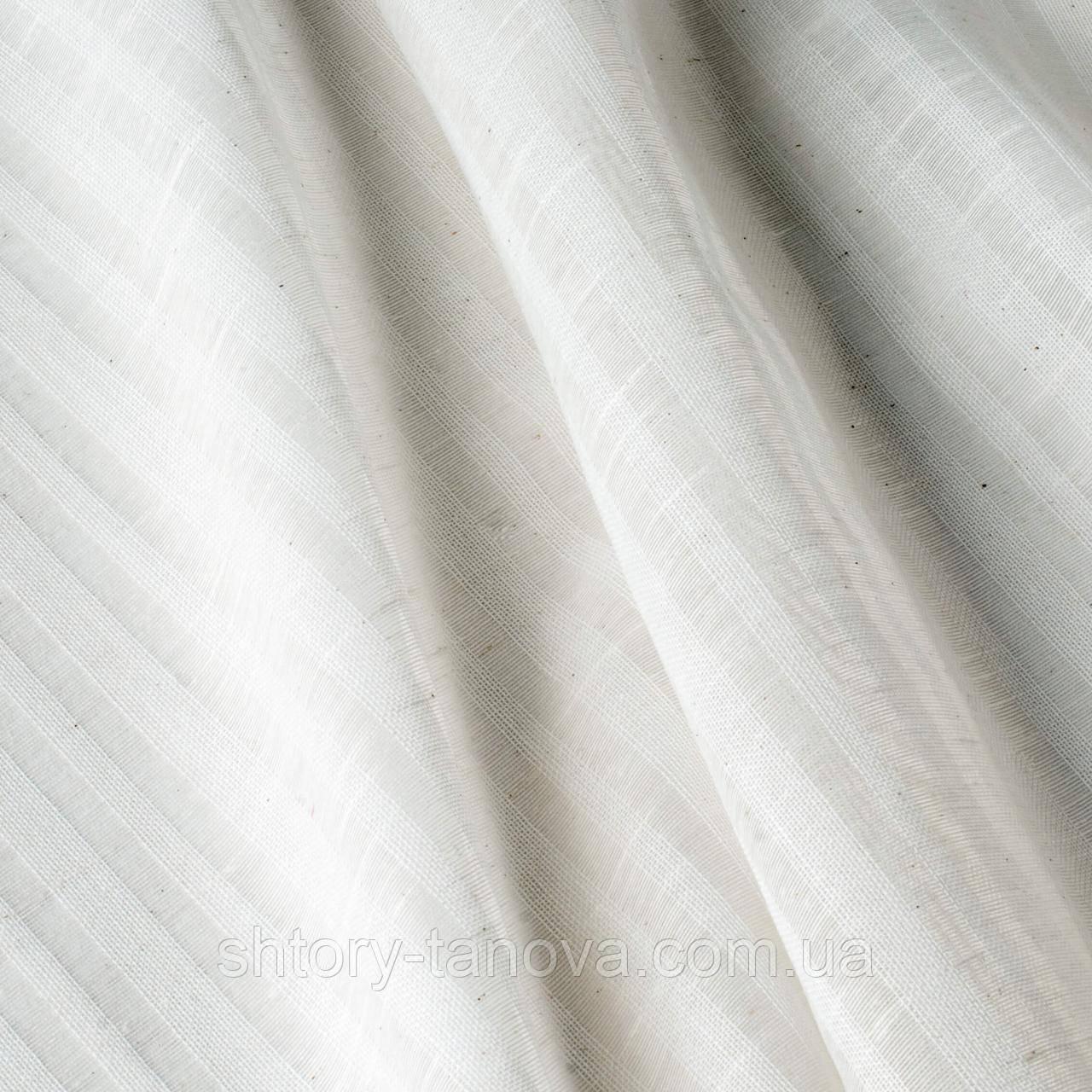 Испанская бело-серая тюль c прозрачными вставками